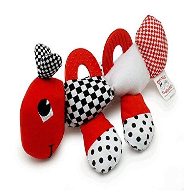 Baby's First Caterpillar Pal - Black, White & Red Teether Toy