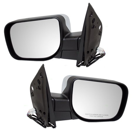 - Pair Set Power Side View Mirrors w/ Chrome Covers Replacement for Infiniti QX56 Nissan Armada Titan Pickup 96302ZR20A 96301ZR20A