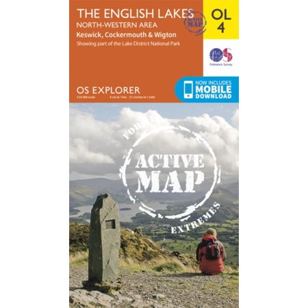 OS Explorer ACTIVE OL4 The English Lakes North Western area (OS Explorer Map Active) (Map)