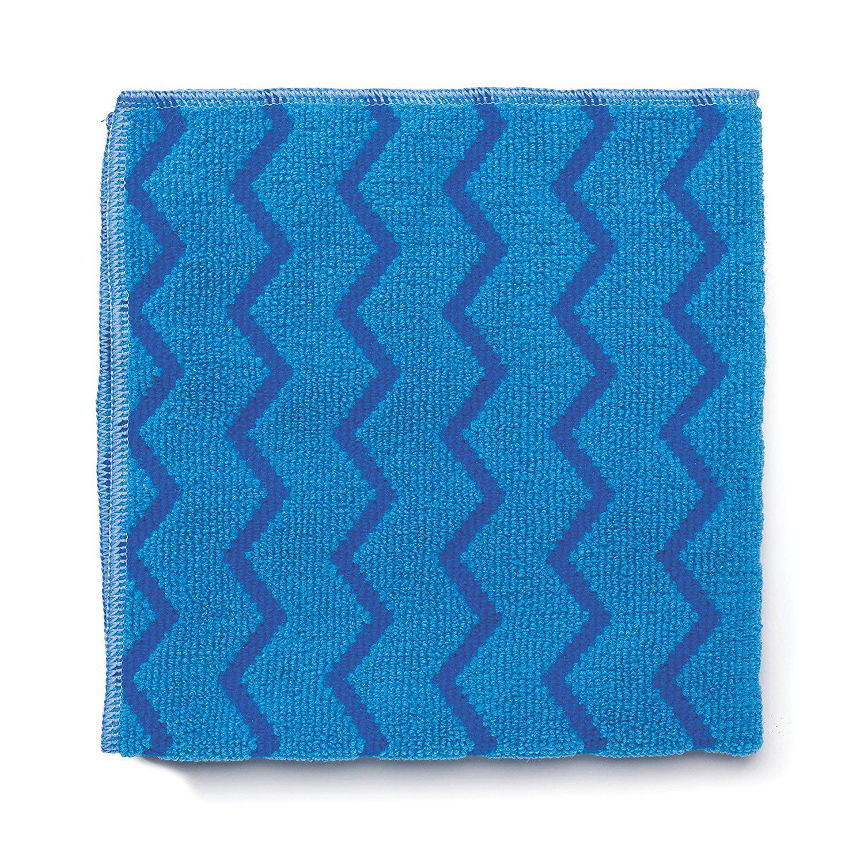 Rubbermaid Commercial HYGEN Microfiber Cloth for Mirrors/Glass, Blue, By Rubbermaid Commercial Products