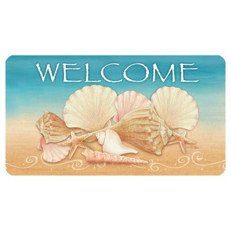 (Toland Home Garden Welcome Shells Doormat - Polyester / Rubber)