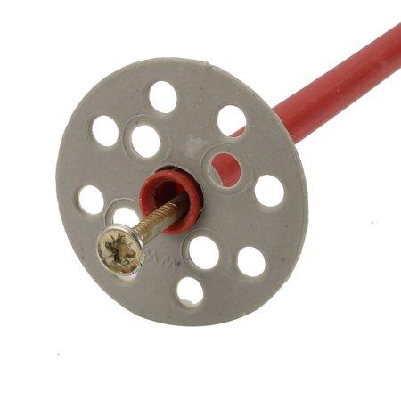 5pcs 10mmx440mm Gypse PP rouge Anchor gris fer Plaque fixation clou galvanisé - image 2 de 4