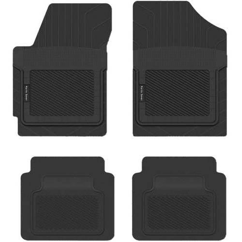 Black Coverking Custom Fit Front Floor Mats for Select Peugeot 505 Models Nylon Carpet