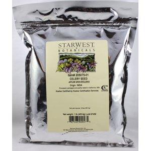 Starwest Botanicals Celery Seed  Whole 1 lb,  Bulk Herbs