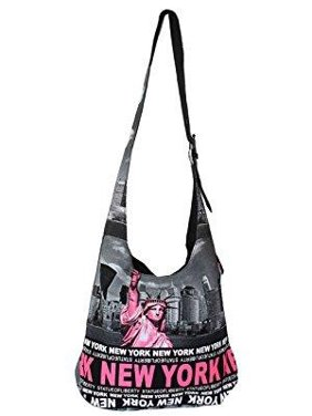 5901a9c56e Product Image Robin Ruth Statue of Liberty New York Skyline Sling Crossbody  Bag Neon Pink Black