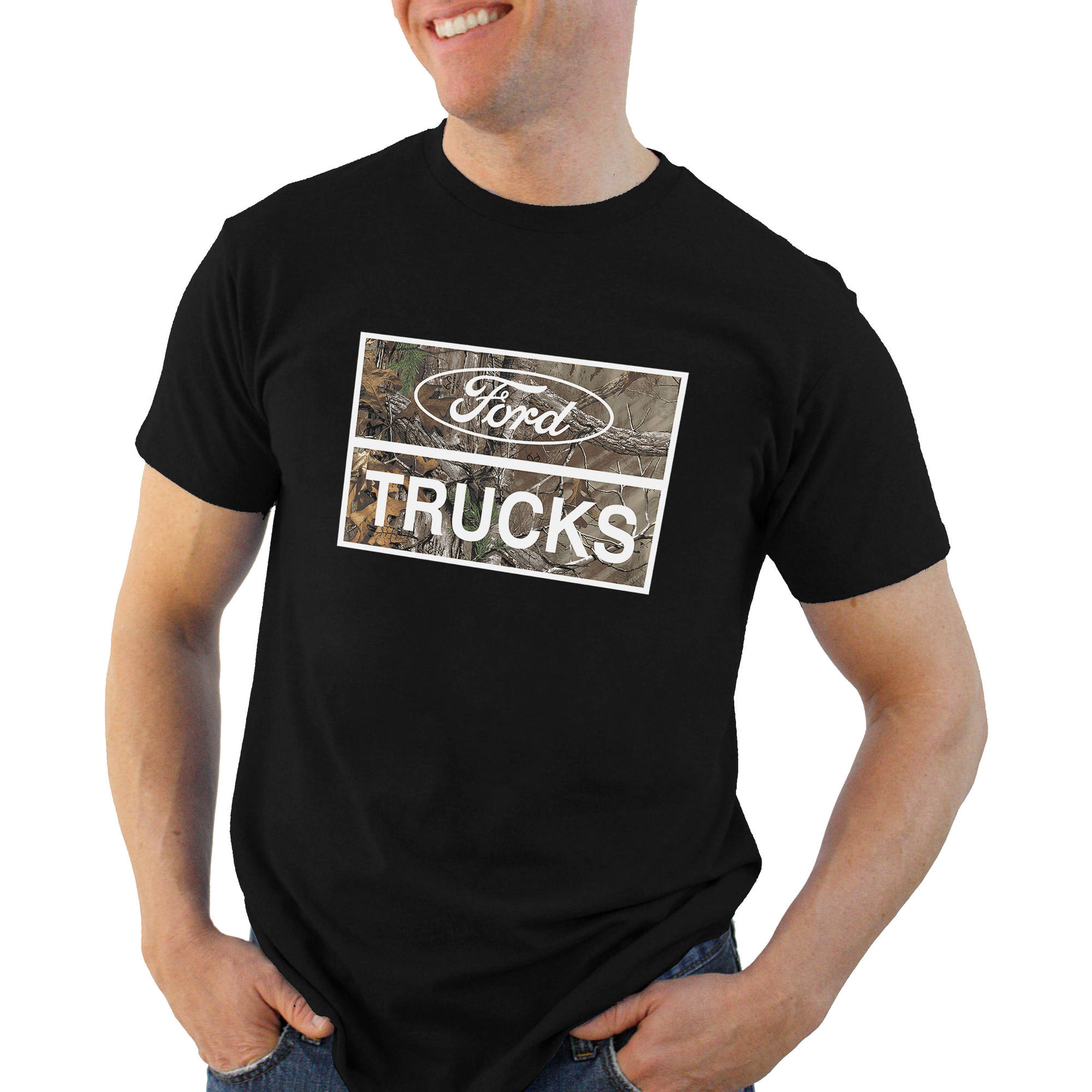 Ford out trucking Big Men's graphic tee