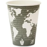 Eco-Products World Art Hot Beverage Cups, Multi, 1000 / Carton (Quantity)