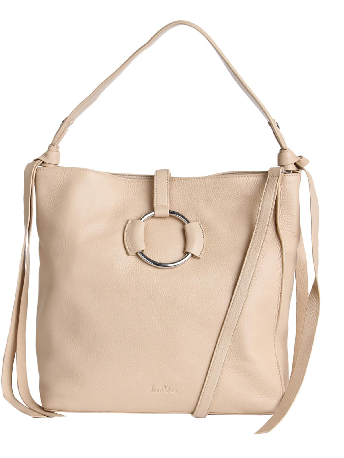 Womens Jaelyn Leather Convertible Hobo Handbag