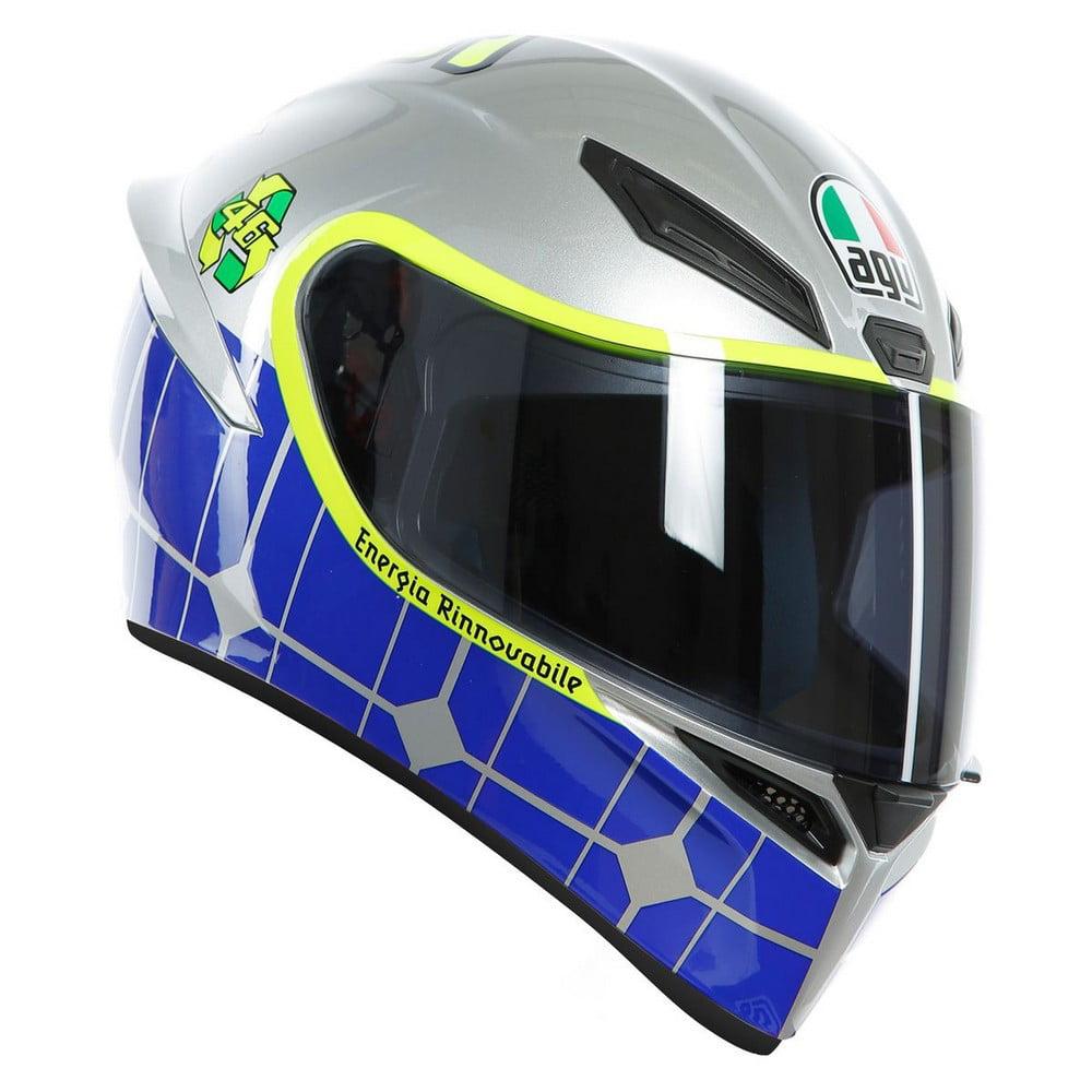 Agv K1 Valentino Rossi Mugello 15 Motorcycle Helmet Blue Hi Vis Walmart Com Walmart Com