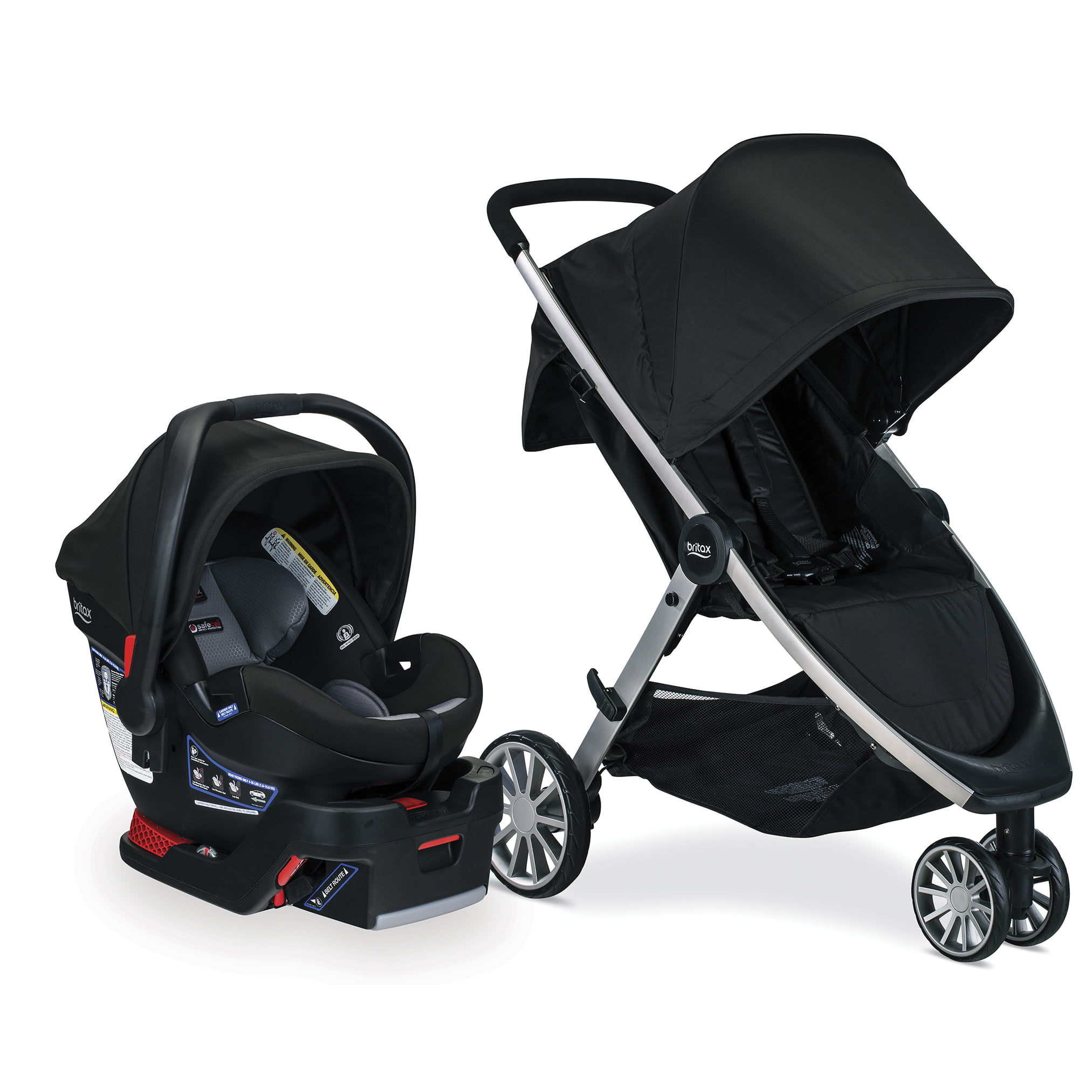 Britax B-Lively & B-Safe Ultra Travel System, Noir by Britax