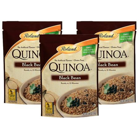 (3 Pack) Roland Quinoa Black Bean, 5.46 oz Free White Quinoa