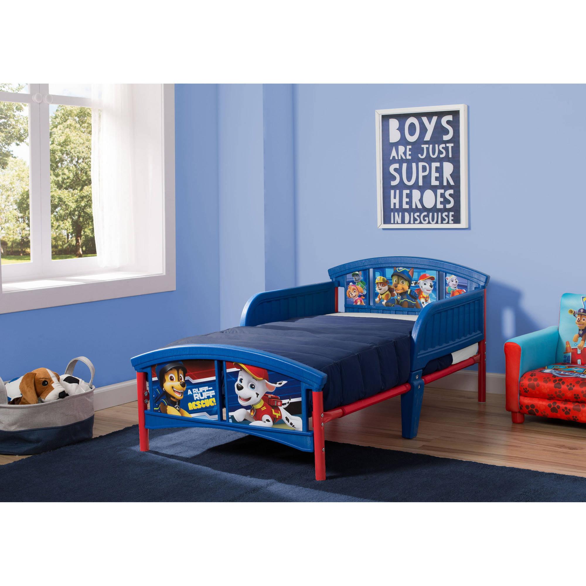 Nick Jr Paw Patrol Plastic Toddler Bed 80213055424 Ebay