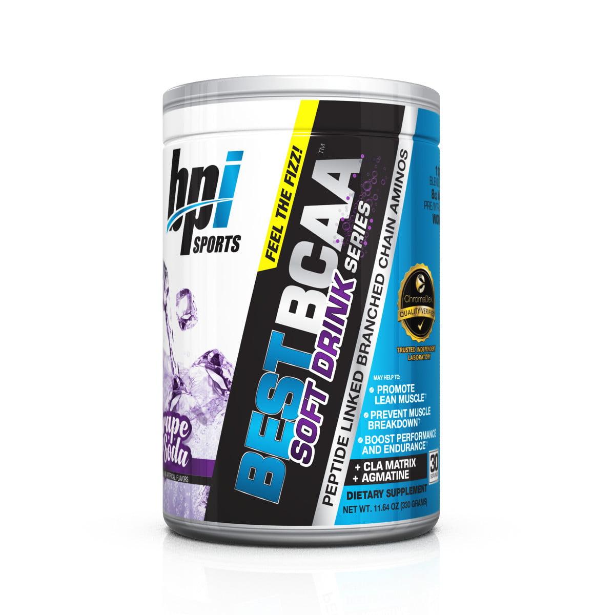 BPI Sports Best BCAA Soft Drink Series, Amino Grape, 30 Servings