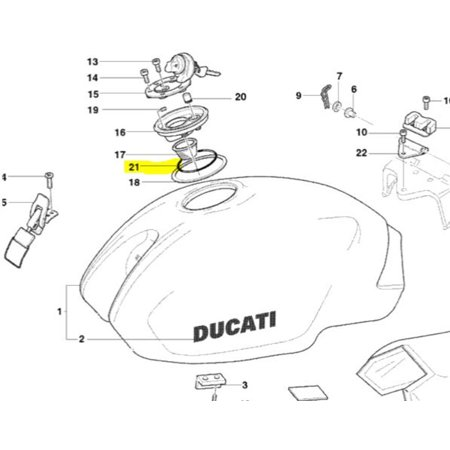Ducati OEM Replacement Gas Fuel Cap O-Ring 79110151A
