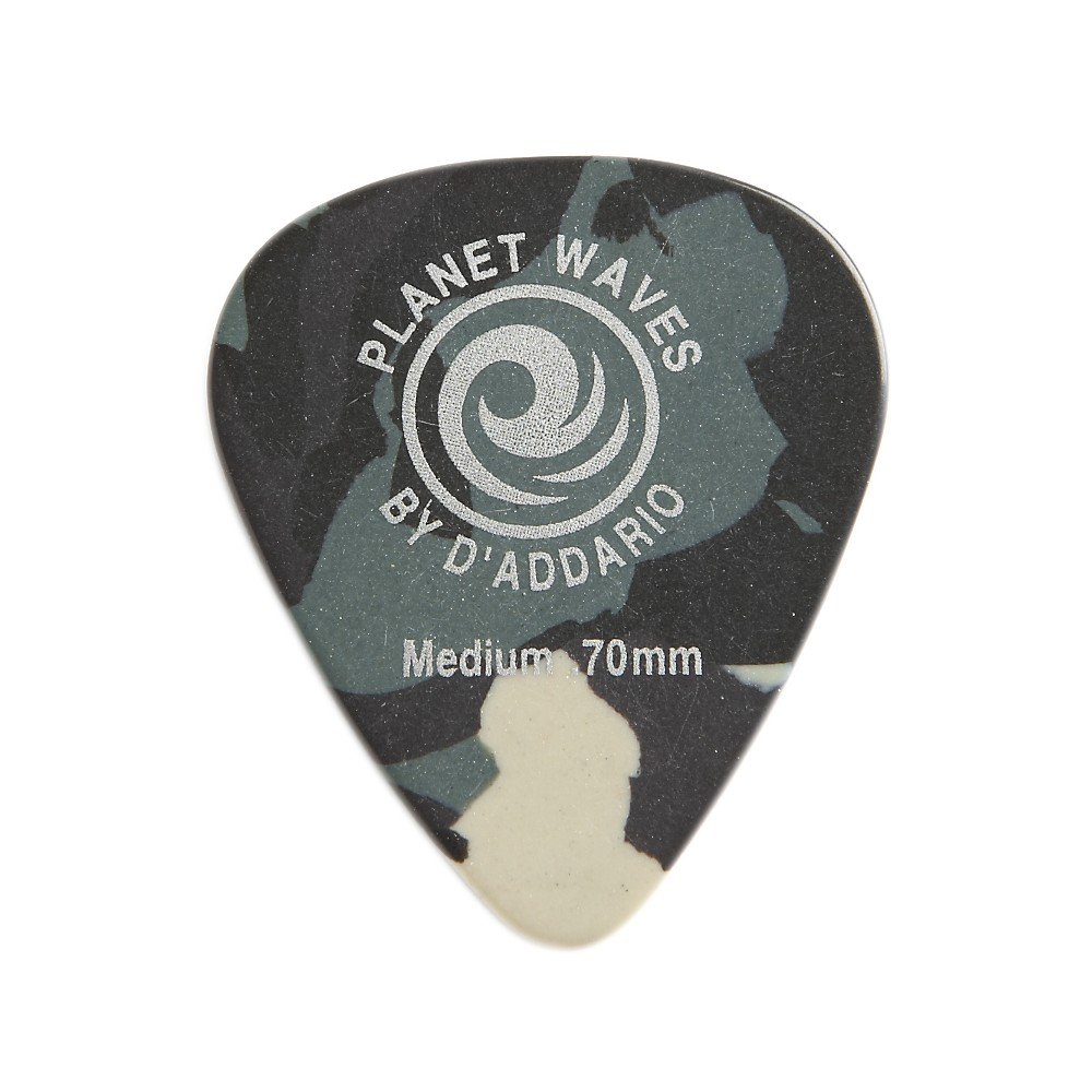 D'Addario Planet Waves Camouflage Celluloid Guitar Picks Medium 10 Pack by D'Addario Planet Waves