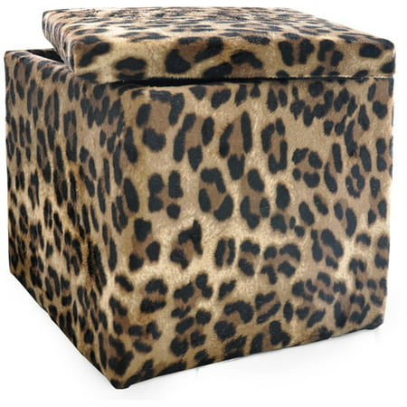 Urban Shop Storage Animal Print Plush Ottoman, Multiple Colors - Walmart.com - Urban Shop Storage Animal Print Plush Ottoman, Multiple Colors