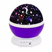 Night Light Projector ,DIGOO LED Starry Moon 360 Degree Rotating Cosmos Romantic Room Star Projector , Starry Moon Sky Night Projector Kid