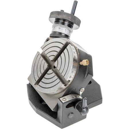 """Grizzly Industrial H7578 4"""" Rotary Table With Tilting Base"""