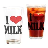 CafePress - I Love Milk Pint Glass - Pint Glass, Drinking Glass, 16 oz. CafePress