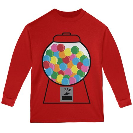 Candy Gumball Machine Costume Youth Long Sleeve T - Gumball Machine Costumes