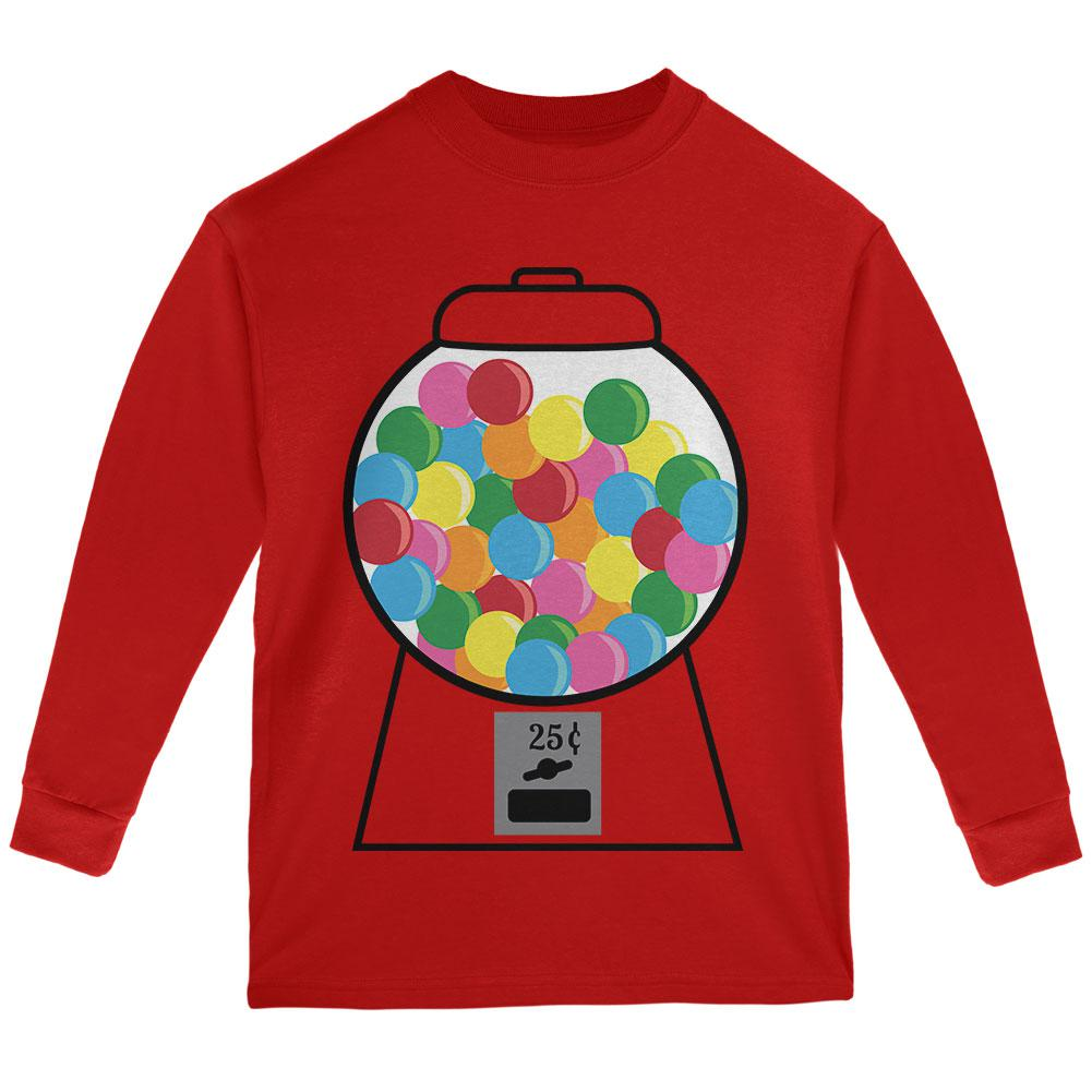 Candy Gumball Machine Costume Youth Long Sleeve T Shirt