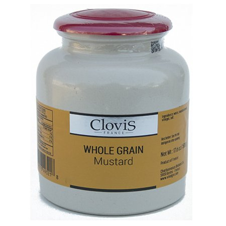- Clovis France Whole Grain Mustard - 17.6 oz (500 g) Gourmet Mustard with Seeds