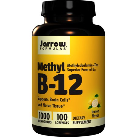 Jarrow Formulas Methylcobalamin (Methyl B12), Supports Brain Cells and Nerve Tissue, 1000 mcg, 100 (Best Vitamin B12 Methylcobalamin)