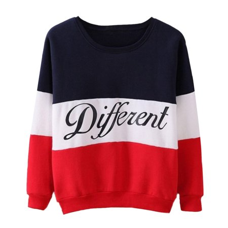 Hoodies Sweater Pullover Letters Different Printed Mix Color Cute Women Girl Clothes (Girls Sweaters Pullover)