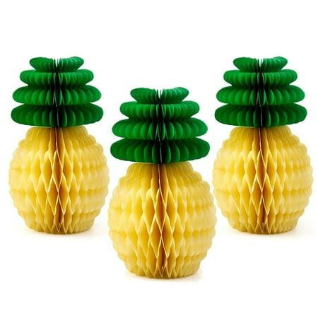 Cheap Hawaiian Garlands (Heepo Paper Pineapple Honeycomb Garland Hawaiian Summer Party Festival Ornament)
