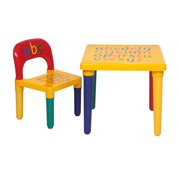 """SEGMART Wood Kids Play Tables and Chair Set, 17.7'' x 17.7'' x 16"""" Durable Plastic Primary Kids Picnic Table & Chair Sets, Art Play-Room Toddler Activity Chair for Toddlers Lego, Reading, S9208"""