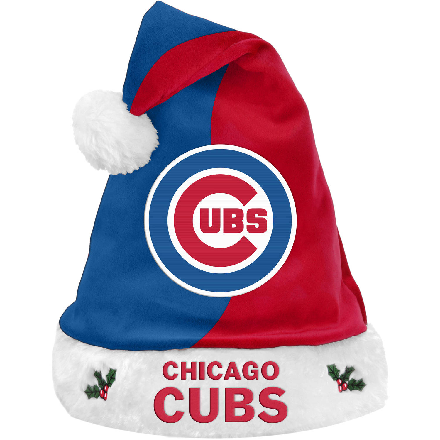 Forever Collectibles MLB Basic Santa Hat, Chicago Cubs