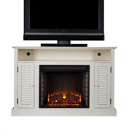 Southern Enterprises Savannah Media Electric Fireplace in Antique White - image 4 of 11