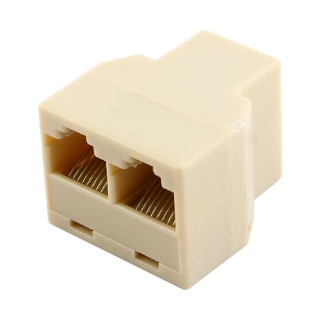 Ethernet RJ45 3 Way Network Cable Splitter Extender Plug Coupler ...