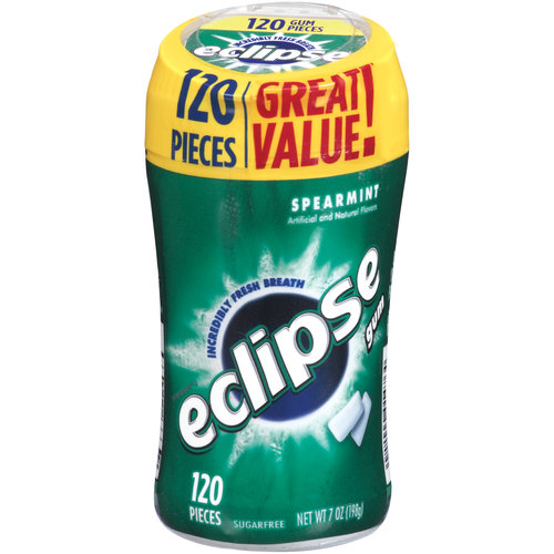 Eclipse Spearmint Sugarfree Gum, 120 pieces, 7 oz