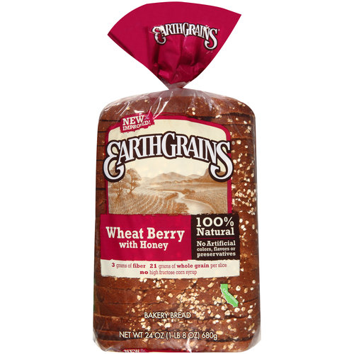 Earthgrains Wheat Berry with Honey Bakery Bread, 24 oz
