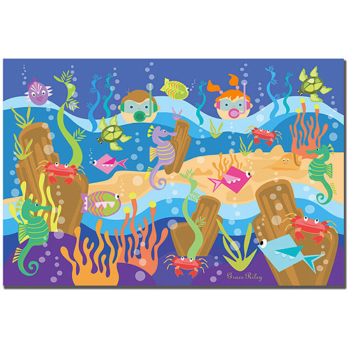 "Trademark Art ""Underwater Adventures"" Canvas Art by Grace Riley"