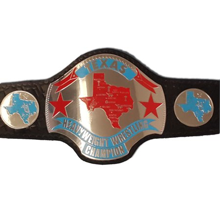 Texas Heavyweight Wrestling Championship Replica Title Belt - Brass Metal 4mm Plates