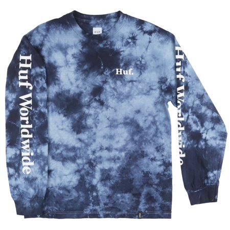 0a45fdd93b0fe HUF - Worldwide Long Sleeve Shirt Tie Dye Blue Mens - Walmart.com