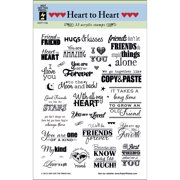 """Hot Off The Press Acrylic Stamps 6""""X8""""-Heart To Heart Greetings"""