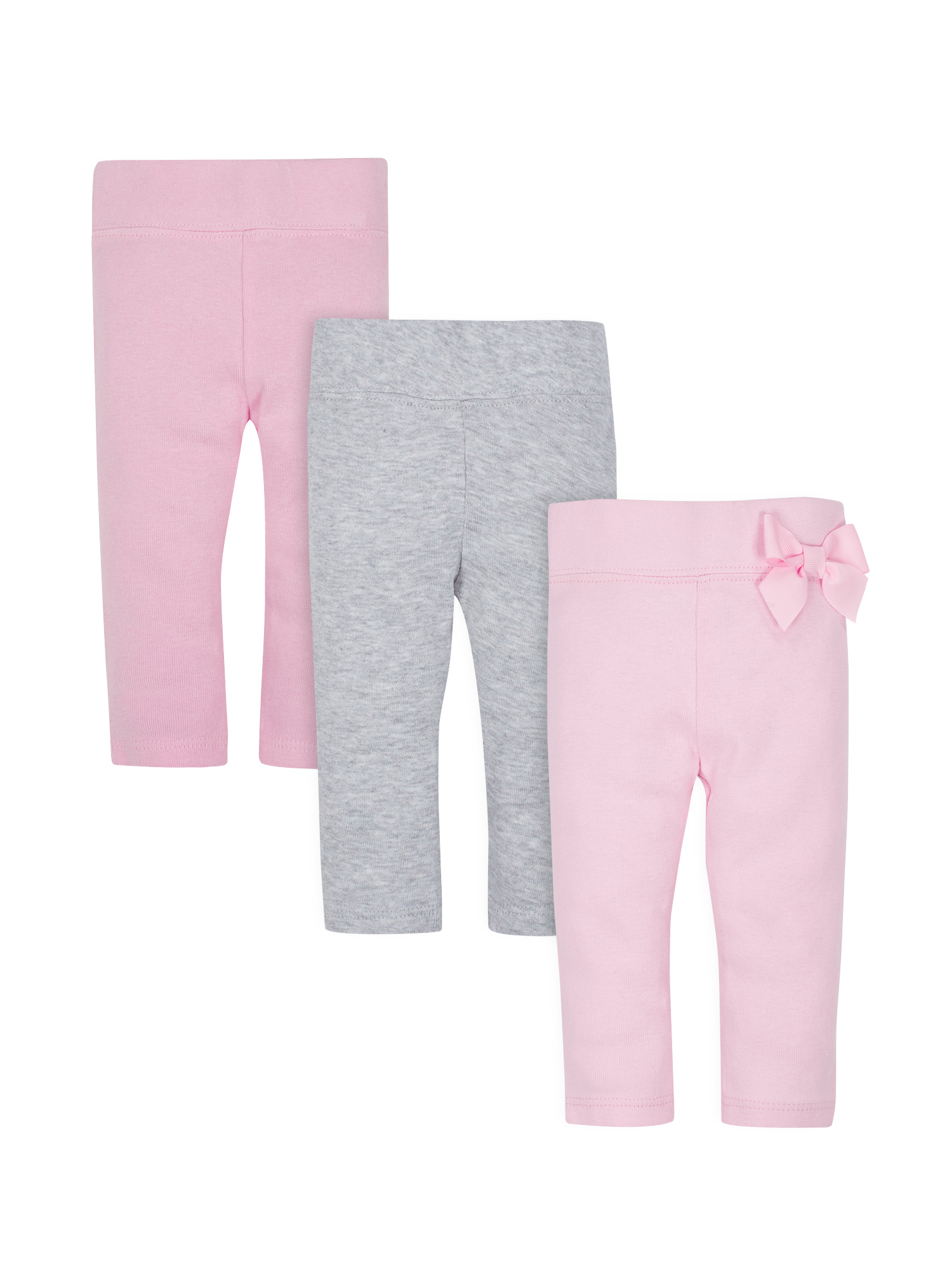 Organic Cotton Rib Slim Pants, 3pk (Baby Girls)