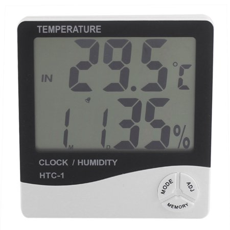 Unique Bargains Battery Powered Digital LCD Display Temperature Humidity Thermometer