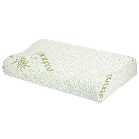 NewHome Bamboo Memory Foam Sleep Pillow Contoured Cervical Orthopedic Pillow Neck Support Breath Pillow