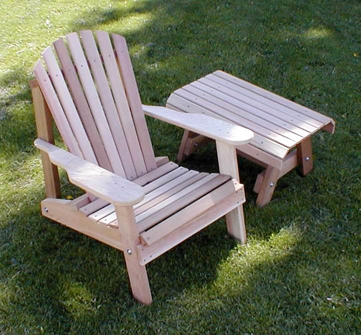 American Forest Adirondack Chair w End Table
