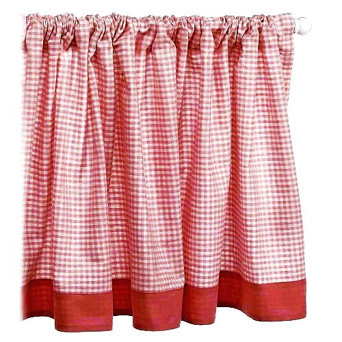 Seed Sprout Basics Gingham Window Valance, Red