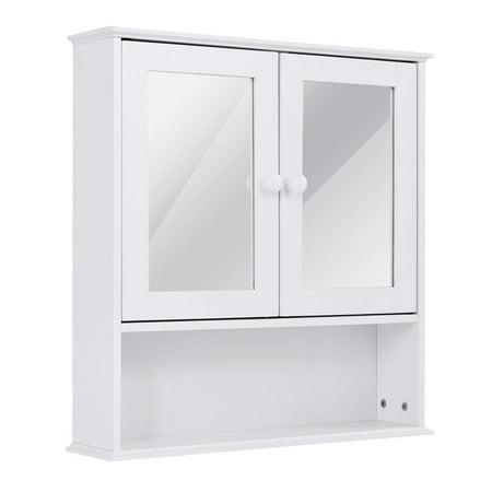 Swell Bathroom Wall Cabinet Double Mirror Door Cupboard Storage Download Free Architecture Designs Meptaeticmadebymaigaardcom