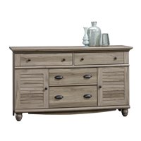 Sauder Harbor View Dresser, Salt Oak Finish