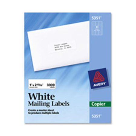 Can I Make Copies At Walmart >> Avery Consumer Products Ave5363 Copier Label Mailing 1 38in X2 1 19in White