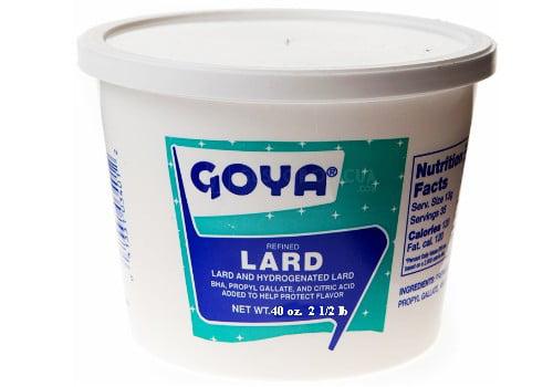 Goya Refined Pork Lard 2 1 2 lb. tub. by