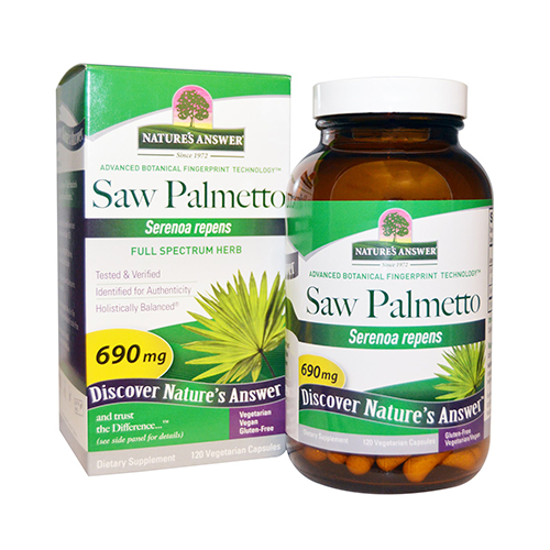 Nature's answer Saw Palmetto Berry Extract, 120 cap vegi