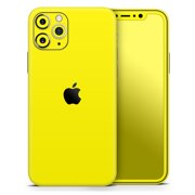 Solid Yellow - DesignSkinz Protective Vinyl Decal Wrap Skin Cover compatible with the Apple iPhone 6/6s (Full-Body, Screen Trim & Back Glass Skin)